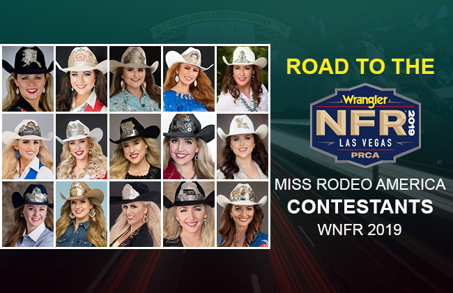 Miss Rodeo America during Las Vegas NFR