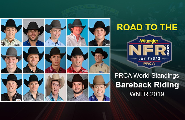 NFR Bareback Riding qualifiers