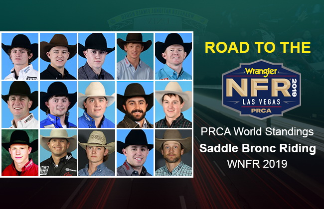 NFR Saddle Bronc Riding qualifiers