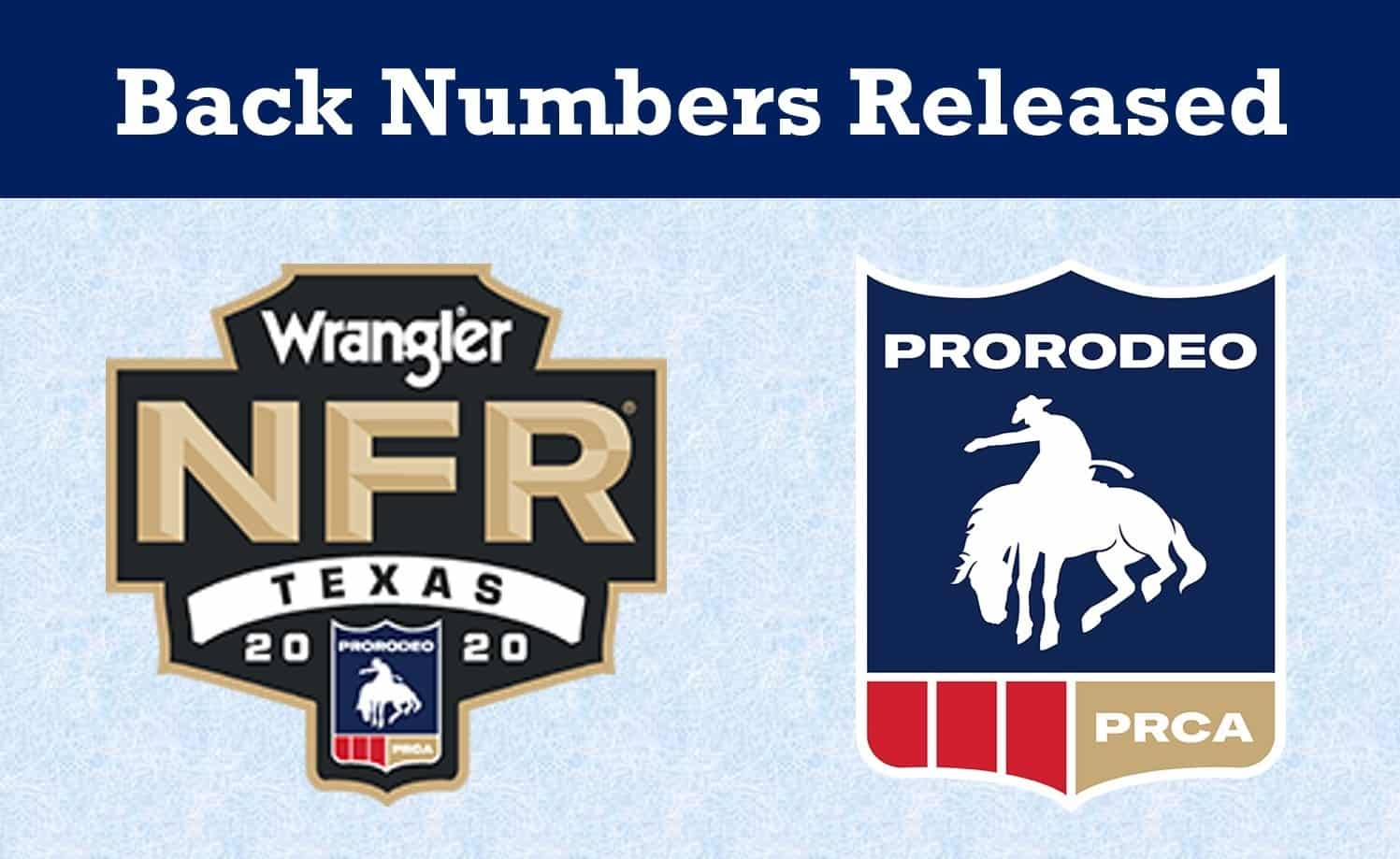 NFR Back Numbers Released