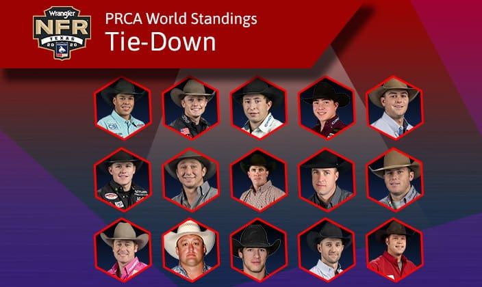 Tie-Down Roping Standings