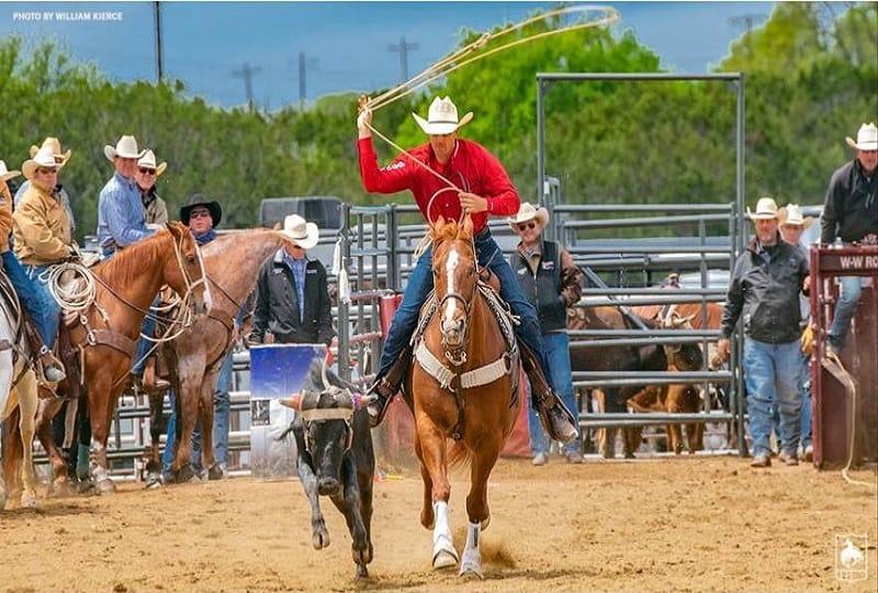 Cole Patterson breaks PRCA steer